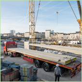 Rector sur le chantier du Pont des Fusillés à Nancy