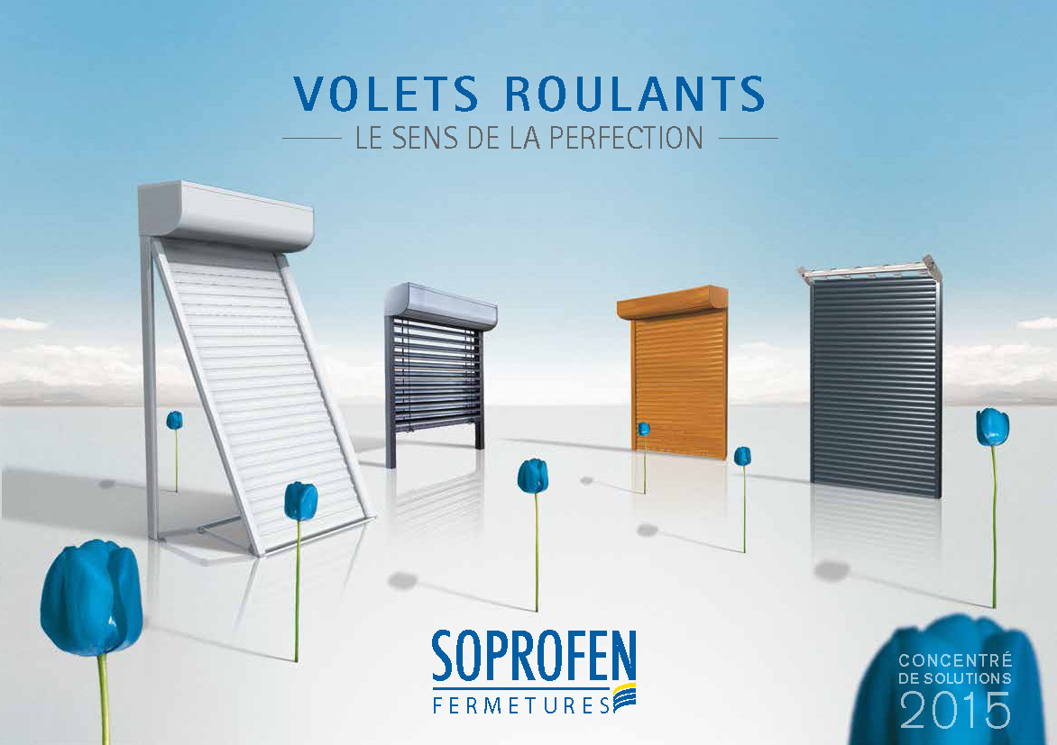 soprofen compl te sa collection de guides de choix avec le nouveau catalogue volets roulants. Black Bedroom Furniture Sets. Home Design Ideas