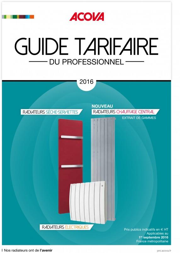 Guides Tarifaires Du Professionnel Acova 2016 2017 Deux Outils